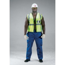Reflective Vests – Protective Mesh, 50mm Reflective Tape, Binding on ends, ID Pocket, Zip front, 53 gsm